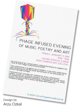 Phage Art Show Flyer Designed by Arzu Ozkal